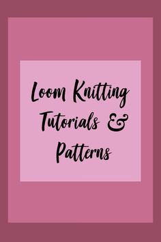 This board is dedicated to loom knitting. From cute hats to thick, cozy scarves . This board is dedicated to loom knitting. From cute hats to thick, cozy scarves this board has something for everyone! Round Loom Knitting, Loom Knitting Stitches, Knifty Knitter, Loom Knitting Projects, Knitting Tutorials, Yarn Projects, Easy Knitting, Loom Crochet, Loom Knit Hat