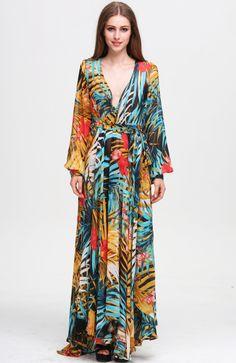 Women'S Long Sleeve Flowy Dress