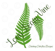 Long fern vine svg cutting files. Free svg files. DIY paper flowers