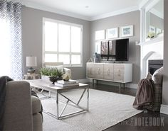 Family Room gets a cozy makeover: Before & After | Pink Little Notebook