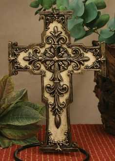 Drake Design Majestic counter cross with fleur de lis accents ***Free Shipping*