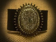 Leather Cuff Embellished by BellaDoniBoutique on Etsy, $35.00