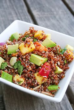 Salads, nutrition and no fat, live healthy on uncoked salads Quinoa POWER Salad Like and Repin :D
