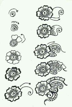 How to do a Henna Flower Design