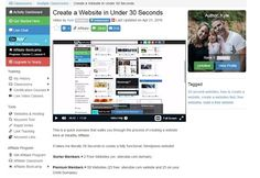 wealthy affiliate a site in 30 minutes