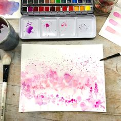 There's something so exhilarating about embracing the beginner's spirit. I  always love to learn and explore new techniques, and at the moment I'm  having so much fun playing with watercolor! Sennelier Watercolor, Watercolor Art, Fun Cup, The Day Will Come, Paint Set, New Things To Learn, Medium Art, Mixed Media Art, Online Art