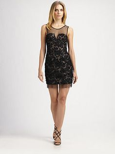cdd969d2ba2 BCBGMAXAZRIA Abigail Ribbon Embroidery Dress - ShopStyle