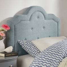 Harper Tufted High-arching Linen Upholstered Twin-size Headboard