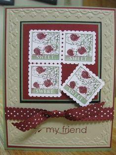 Pretty postage ; My friend ; Framed tulip TIEF ; Postage stamp punch