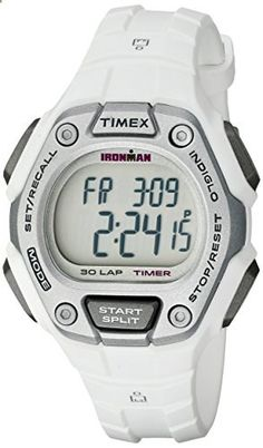 Timex Women's TW5K894009J Ironman Classic 30 Digital Display Quartz White Watch. Go to the website to read more description.