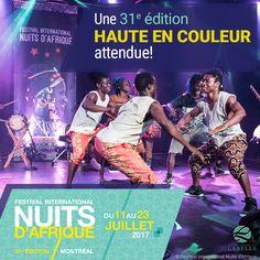 Du 11 au 23 juillet, les Nuits d'Afrique mettront de l'ambiance dans Montréal. Executive Suites, Montreal, Movie Posters, Old Montreal, Africa, Night, Film Poster, Film Posters