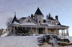 Historic Sidna Allen House by Benanne Stiens Abandoned Houses, Old Houses, Farm Houses, Victorian Architecture, Architecture Design, Future House, My House, Second Empire, Classic House
