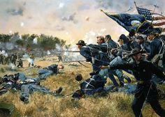 1863 07-02 Gettysburg, Cemetery Ridge, 1st Minnesota - Don Troiani