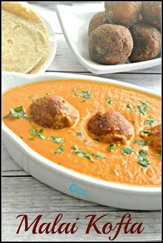 Malai Kofta Recipe Kofta Recipe Vegetarian, Best Vegetarian Dishes, Vegetarian Gravy, Veggie Recipes, Indian Food Recipes, Cooking Recipes, Malai Kofta Recipe In Hindi, Recipes