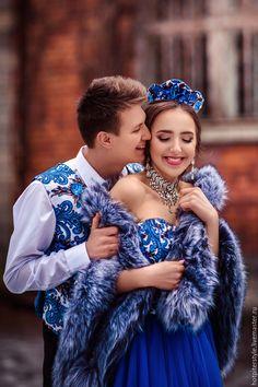Купить Мужская жилетка в стиле А-ля Русс - тёмно-синий, цветочный, жилетка