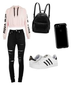 A fashion look from July 2017 featuring pink hoodies, distressed jeans and white shoes. Browse and shop related looks. White Shoes, Distressed Jeans, Stella Mccartney, Yves Saint Laurent, Fashion Looks, Adidas, Hoodies, Shoe Bag, Nice