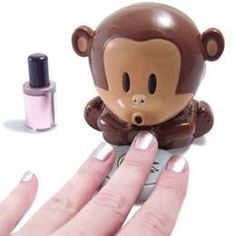 not really nail art, But how cute would it be to have this little guy blow your nails dry!