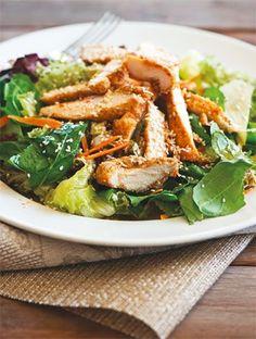 Σαλάτα με κοτόπουλο και σουσάμι   Συνταγές, Σαλάτες   Athena's Recipes Salad Bar, Fermented Foods, Japchae, Cooking Time, Food Dishes, Recipies, Appetizers, Ethnic Recipes, Crafts