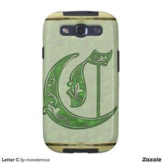 Letter C Samsung Galaxy SIII Cover #Alphabet #Letter #Embossed #Art #Mobile #Phone #Case #Cover #Samsung