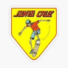 Santa Cruz Stickers, Santa Cruz Logo, Hand Logo, Ferrari Logo, Skateboards, Sticker Design, Logos, Things To Sell, Hoodie