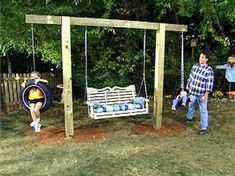 Treeless swing #outdoorplayhouseinterior