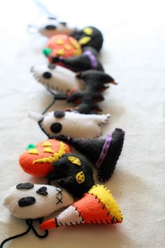 Halloween Garland!  Would be cute for the office.