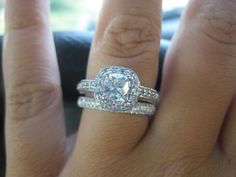 .74center cushion cut Found on Weddingbee.com Share your inspiration today!