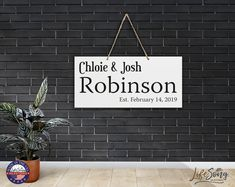 Wooden Name Plaques, Wooden Names, Popular Last Names, Heart Warming Quotes, People Fall In Love, Family Name Signs, New Homeowner, Great Housewarming Gifts, Easy Wall