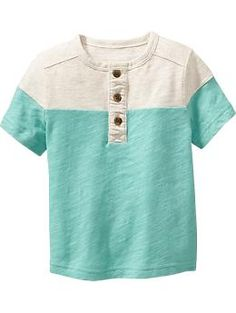 Colorblock Henley Tees for Baby   Old Navy