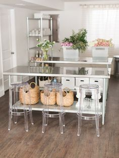 sleek craft studio - great space in an office