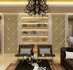Decoration effect of laser cut screens.
