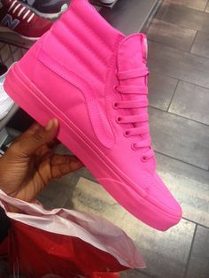 pink high top vans (I Got These for my BDay Today :-) 4/16 )