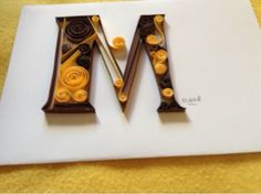 mWorks: Letra M . Quilling