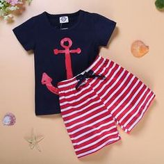 Anchors Away Short Set - Boys