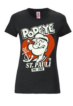 LOGOSHIRT - POPEYE - T-Shirt print - schwarz