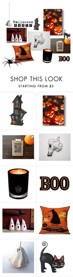 """""""Halloween Party"""" by apple-named-doris ❤ liked on Polyvore featuring interior, interiors, interior design, home, home decor, interior decorating, Sullivans, EB Florals and Halloweenparty"""