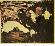 "Edvard Munch - ""By the Deathbed"" 