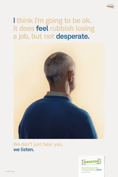 Samaritans campaign by MullenLowe London