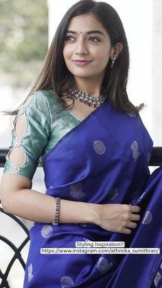 Saree Blouse Neck Designs, Choli Designs, Kurta Designs Women, Beautiful White Dresses, Designer Silk Sarees, Stylish Blouse Design, Saree Trends, Stylish Sarees, Dress Indian Style