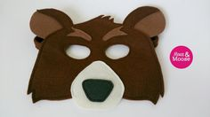 100% Wool Felt Berkeley the Bear mask. Perfect by MouseAndMoose
