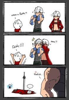 Aaaaaw Vergil you should be nice to your family Anime Couples Manga, Cute Anime Couples, Anime Girls, Dante Devil May Cry, Dmc 5, Mega Man, Gaming Memes, Stupid Funny Memes, Funny Games