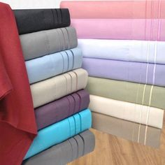 Superior Light Weight and Super Soft Brushed Microfiber, Wrinkle Resistant Sheet Set with 3-Line Embroidery, Silver
