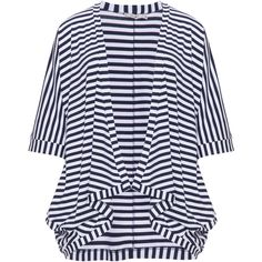 Mat Blue / Cream Plus Size Striped open cardigan ($58) ❤ liked on Polyvore featuring tops, cardigans, blue, plus size, plus size summer cardigans, plus size summer tops, stripe cardigan, blue cardigan and plus size open front cardigan