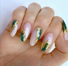 Acrylic Nail Designs Glitter, Bling Acrylic Nails, Simple Acrylic Nails, Square Acrylic Nails, Bling Nails, Simple Nails, Acrylic Nails Almond Glitter, Coffin Nails Ombre, Nails Design With Rhinestones