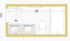5x10 Bathroom Floor Plan | Bathroom floor plans, Bathroom ...