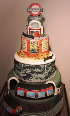 Restoration Cake - London Underground cake