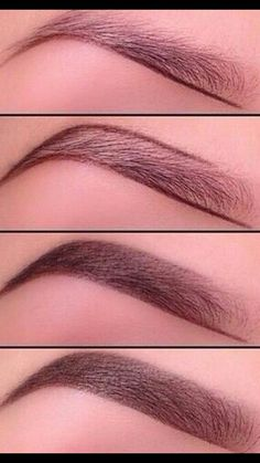 The proper way to fill in eyebrows