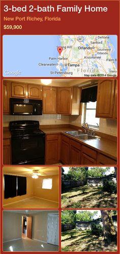3-bed 2-bath Family Home in New Port Richey, Florida ►$59,900 #PropertyForSaleFlorida http://florida-magic.com/properties/52883-family-home-for-sale-in-new-port-richey-florida-with-3-bedroom-2-bathroom