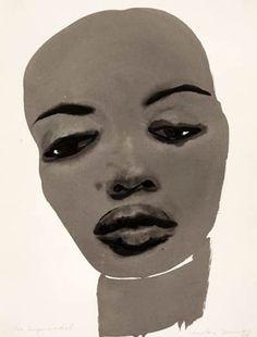 'The Supermodel' - 1995 - by Marlene Dumas (South African, b. 1953) - @Mlle