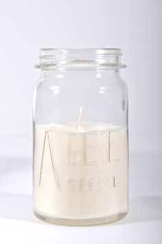 LET LIV Vintage Agee Jar Soy Candle - Large Canning Jars, Mason Jars, Falcon Enamelware, My Christmas Wish List, Baking Set, Soy Candles, Glass Of Milk, Let It Be, Vintage